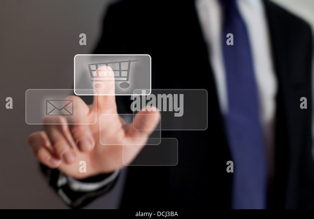 shopping online - Stock Image