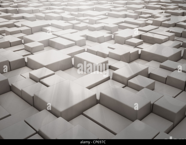 Abstract 3d background with cubes - Stock Image