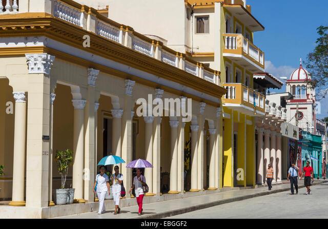 Cuba, Granma, Bayamo, Maceo street - Stock Image
