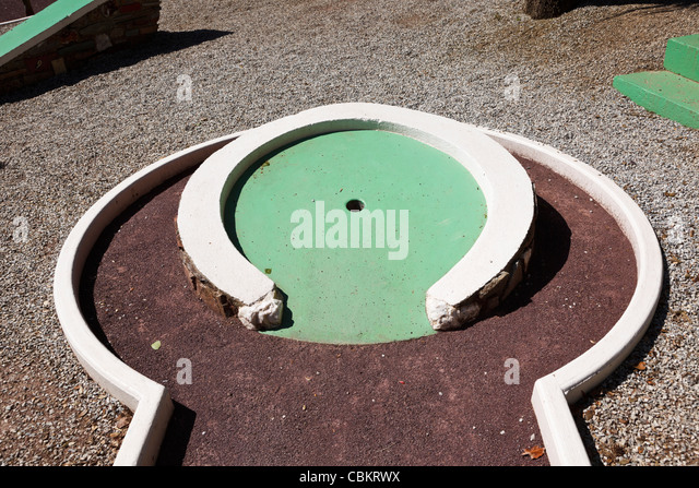 Crazy golf hole - Stock Image