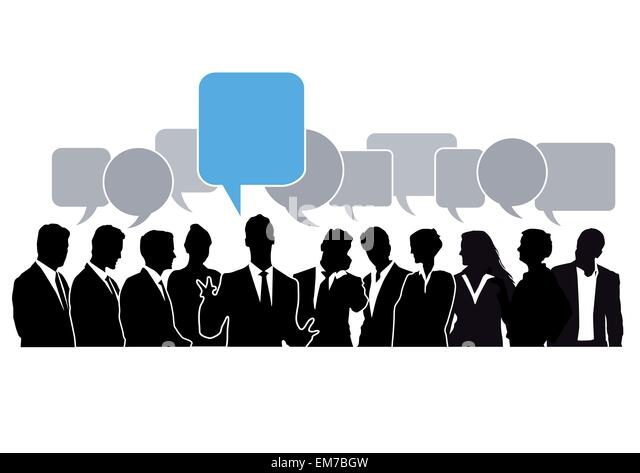 Brainstorming Chat - Stock Image