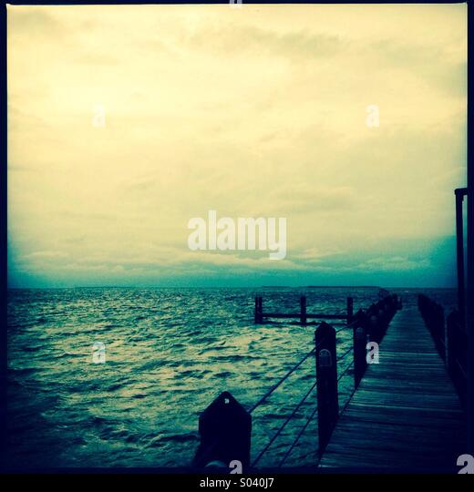 Dock in Florida, USA - Stock Image