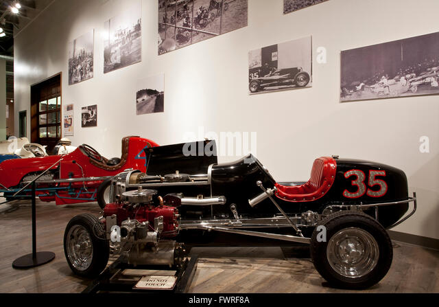 1938 Chrome Elto Midget racer. Fountainhead Antique Auto Museum. Fairbanks. Alaska. USA - Stock Image