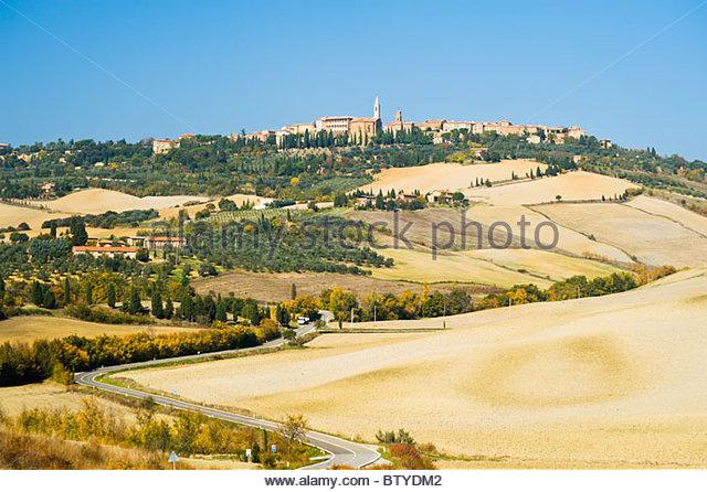 Pienza, Val D'Orcia, Tuscany, Italy. - Stock Image