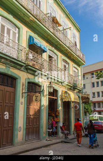 Cuba. Havana. Old Havana. Cafe near the Plaza de Armas. - Stock-Bilder