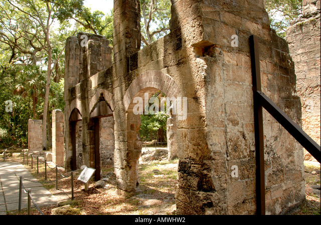 Florida Bulow Plantation Ruins Historic State Park - Stock Image