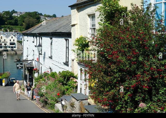 The village of Bodinnick near Fowey in Cornwall, UK - Stock-Bilder