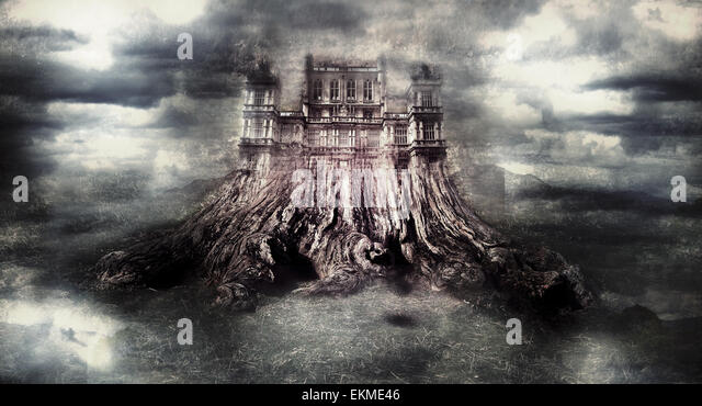 Spooky castle - Stock Image