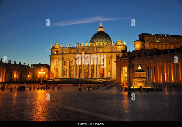 St Peters Basilica in Vatican City in Rome. Stock Photo