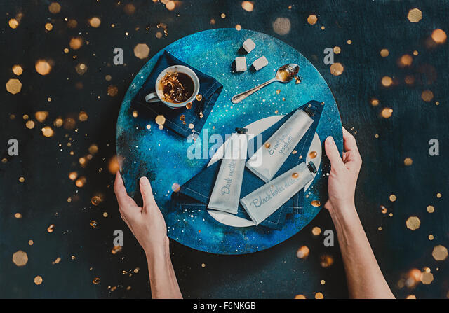 Zero gravity lunch - Stock Image