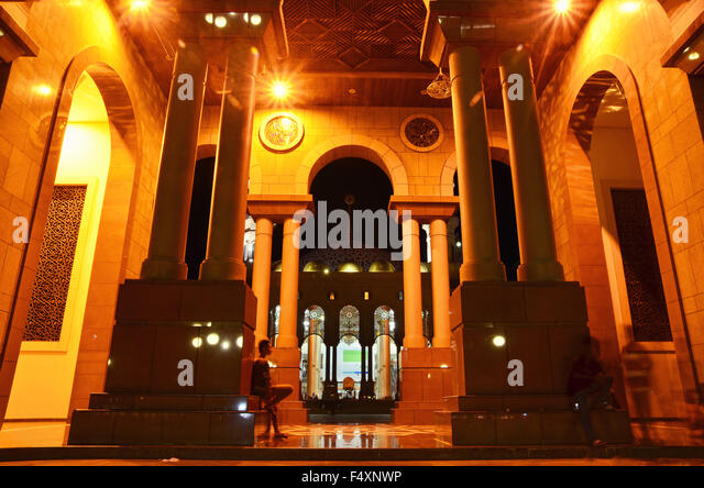 Baitul Mutaqqin Mosque at night in Samarinda capital city - Stock Image