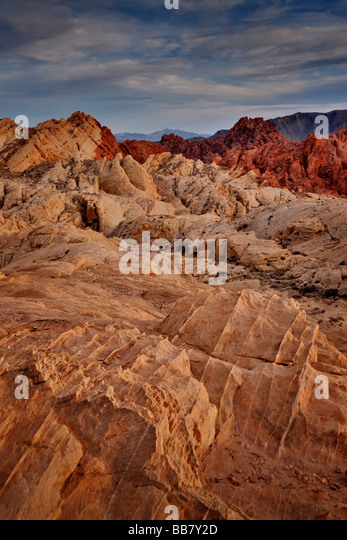 The Valley Of Fire near Las Vegas in Nevada USA - Stock Image