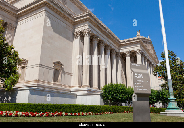 The National Archives building - Stock Image