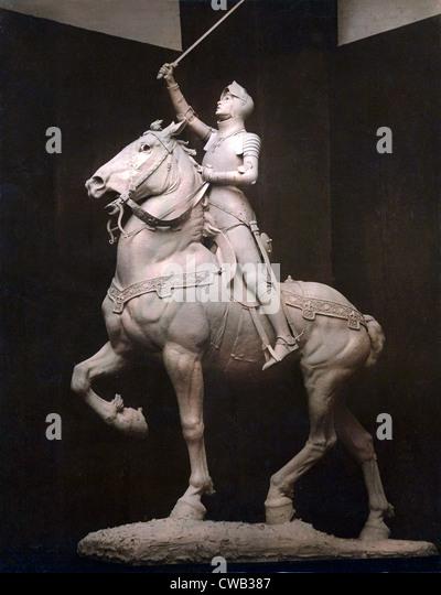 Joan of Arc, Statue of Jeanne d'Arc, by Anna V. Hyatt Huntington, 1915. - Stock Image