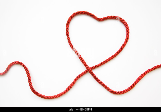 Heart Shape Made From Red Cord - Stock Image