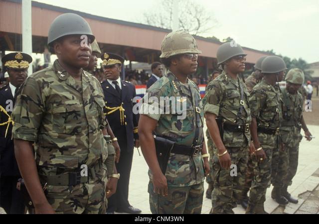 Samuel Kanyon Doe  Liberia Monrovia West Africa  HOMER SYKES - Stock Image