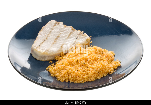 Tuna Steak with Cous Cous - Stock Image