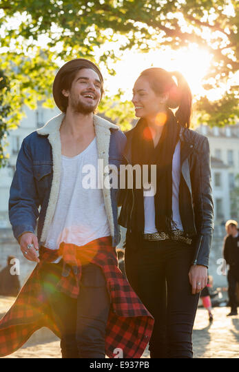 Couple Visiting Paris - Stock Image