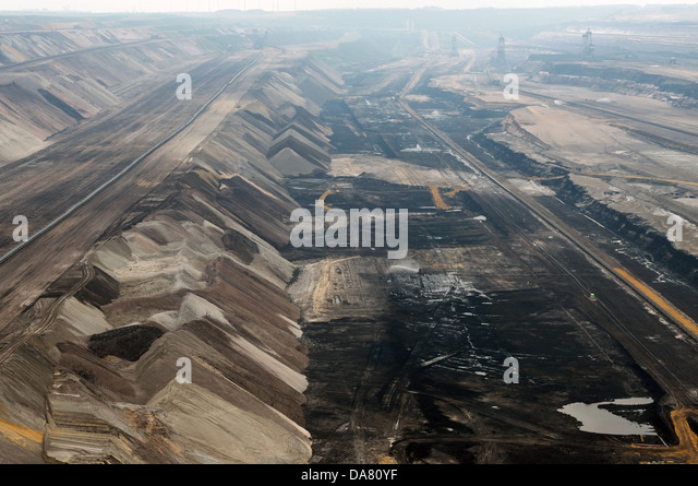 Surface coal mine Germany - Stock Image