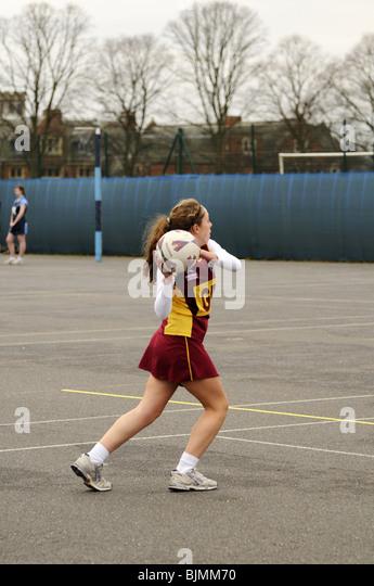 Inter-school netball game. - Stock Image