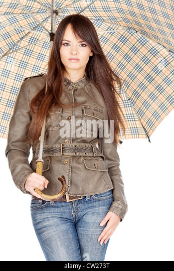 Teen Rain Umbrella Stock Photos & Teen Rain Umbrella Stock ...