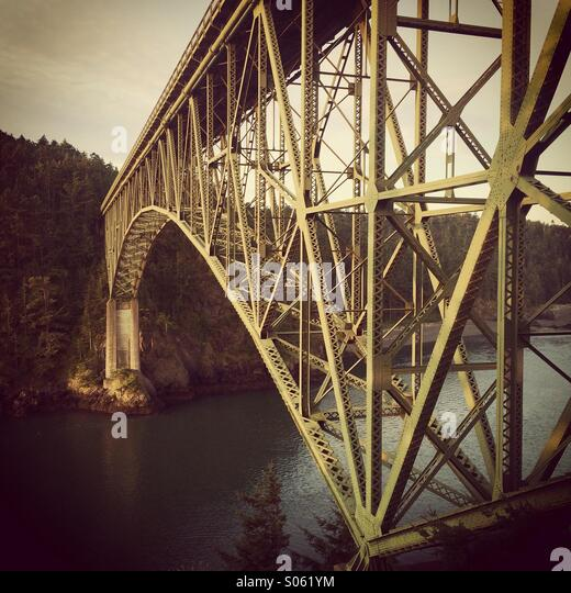 Deception Pass Bridge, Whidbey Island, Washington, - Stock Image