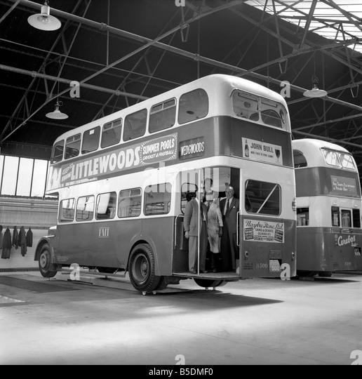 Transport 1950s Bus Stock Photos Amp Transport 1950s Bus