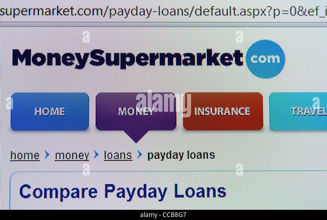 moneysupermarket.com price comparison web site - Stock Image