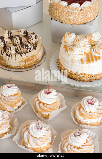 Still life of pastries - Stock Image