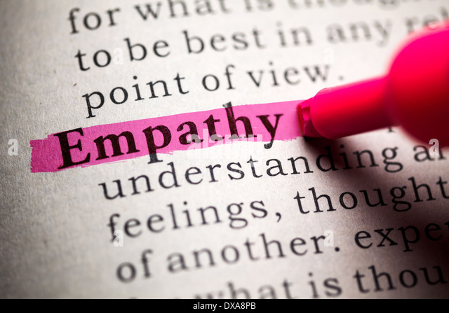 Fake Dictionary, definition of the word empathy. - Stock Image