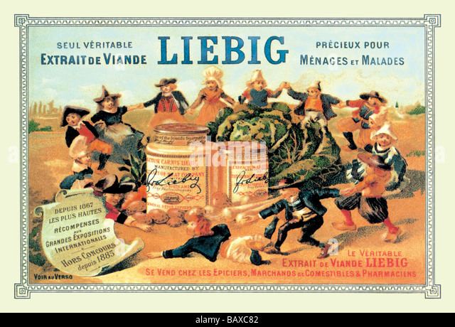Meat Extract Advertisement - 'Liebig' - Stock Image