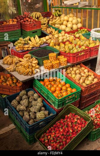 Bogota Paloquemao fruits and vegetables market - Stock Image