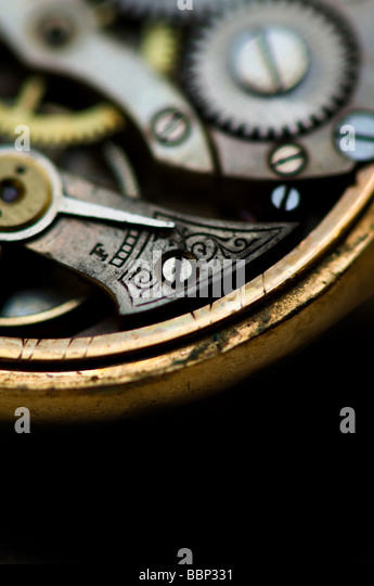 Image of the inner workings of an antique pocket watch - Stock-Bilder