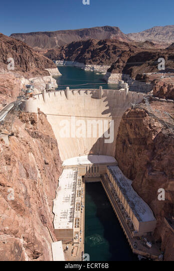 The Hoover Dam hydro power station,Nevada, USA. - Stock Image