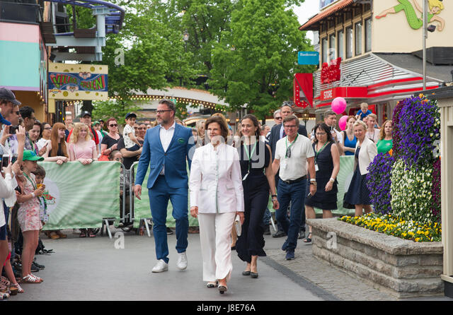 Stockholm, Sweden, 28th May, 2017. Childhood Day at the amusement park Grona Lund.  This is the fourteenth year - Stock Image