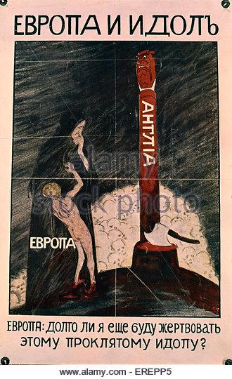 Russian War Poster - Stock Image