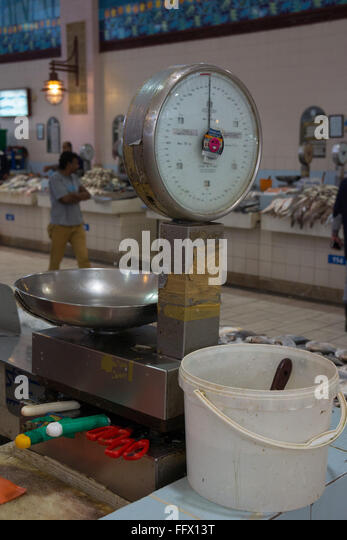 Weighing scales fish market stock photos weighing scales for Fish weight scale