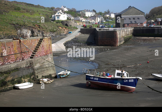 Porthgain Harbour Pembrokeshire Boats Stock Photos