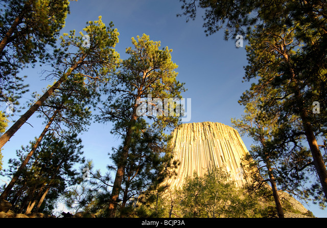Devil's Tower National Monument, Wyoming, USA - Stock-Bilder