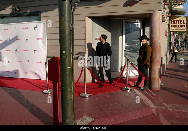 red carpet nightclub south of market san francisco - Stock Image