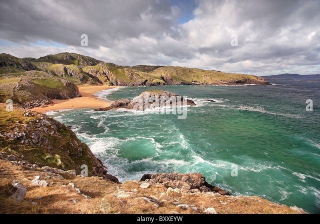 Boyeeghter Bay, Rosguill Peninsula, Donegal. - Stock Image