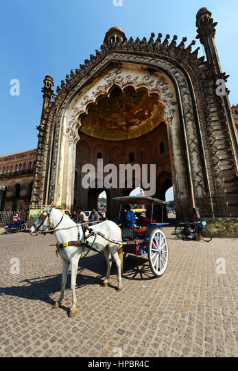 The historic Rumi gate in Lucknow, India. - Stock Image