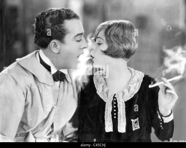 Movie photo with Blanche Sweet and Jack Mulhalt, 1925 - Stock-Bilder