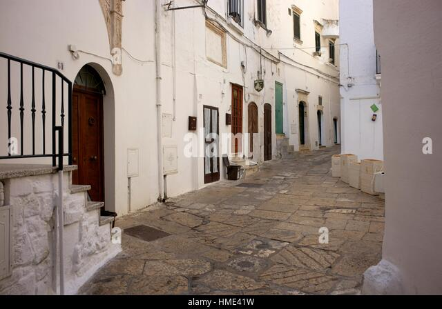 Ostuni is a city and comune, located about 8 km from the coast, in the province of Brindisi, region of Apulia, Italy). - Stock Image