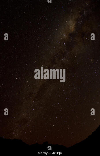Milky Way in a new moon night over the Karoo desert, Namaqualand, South Africa - Stock Image