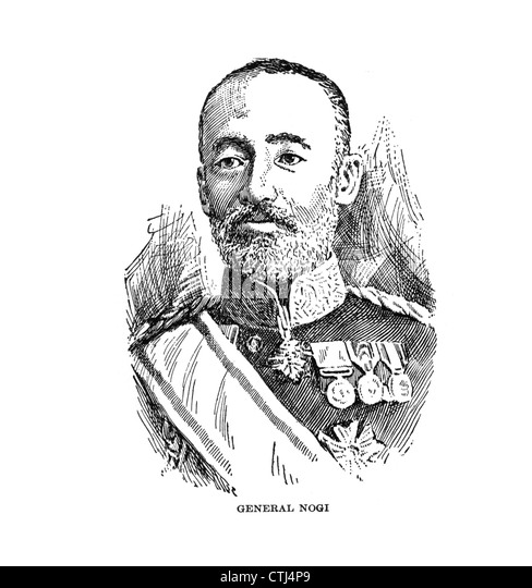 General Nogi,1851-1912, Japanese, general, administrator. - Stock Image
