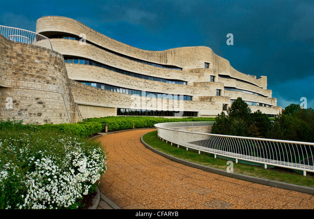 Exterior of Canadian Museum of Civilization, Hull, Quebec, Canada - Stock Image