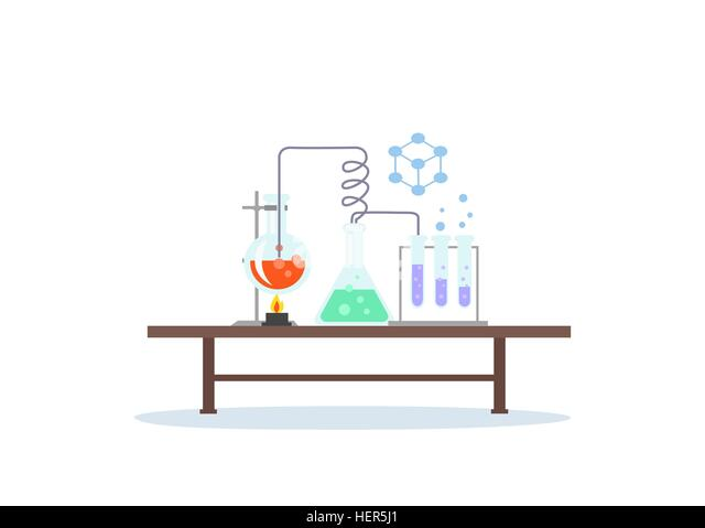 Biology Laboratory Workspace and Science Equipment. Biology laboratory workspace and science equipment concept. - Stock-Bilder