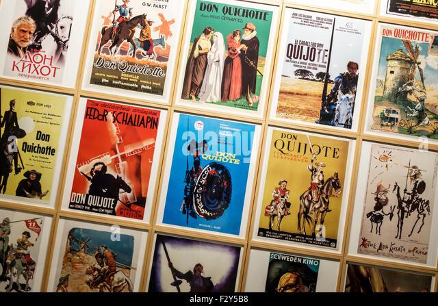 Madrid Spain Europe Spanish Centro Calle de Alcala Instituto Cervantes Cervantes Institute exhibition Don Quixote - Stock Image
