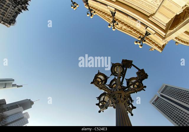Alte Oper Frankfurt, frog perspective, Frankfurt am Main, Hesse, Germany, Europe - Stock Image